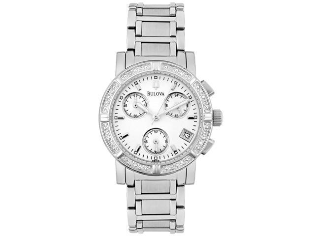 Bulova Diamond Chronograph Ladies Watch 96R19