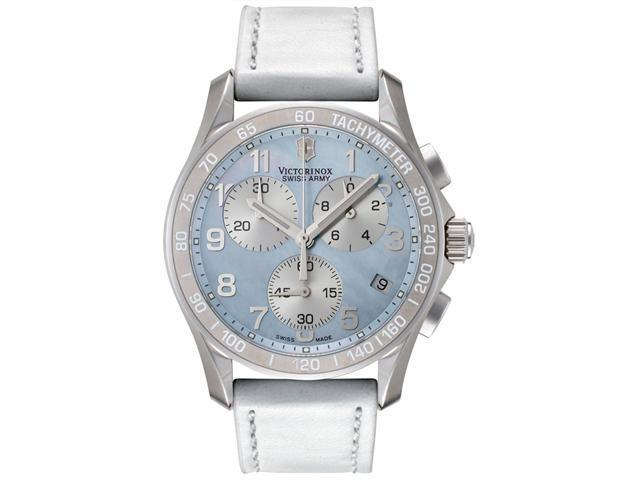 Swiss Army Women's Classic Chronograph White Leather