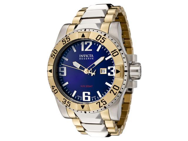 Invicta Men's Reserve Blue Dial Two Tone Stainless Steel