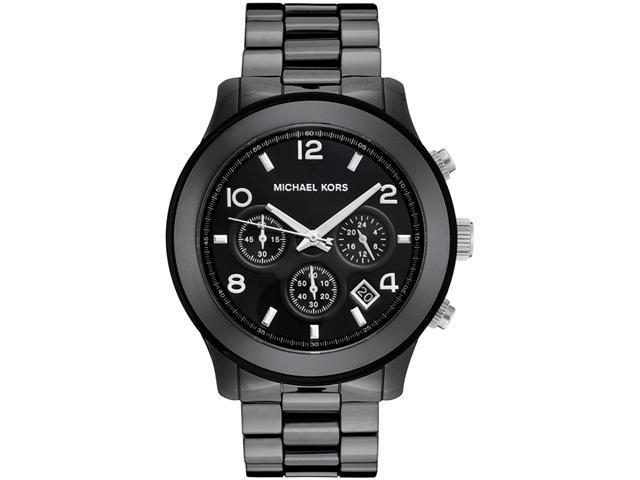 Michael Kors Men's Chronograph Black Dial Black Ceramic