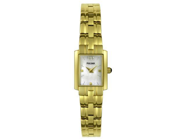 Pulsar Women's Diamond Yellow Gold Tone