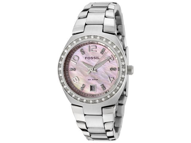 Fossil Women's 'Glitz' Pink Dial Analog Watches #AM4175