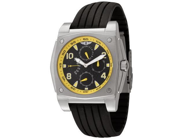I by Invicta Men's Black Dial with Yellow Numerals Black Rubber