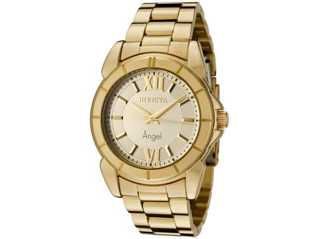 Invicta Women's Angel Silver Dial 18k Gold Plated