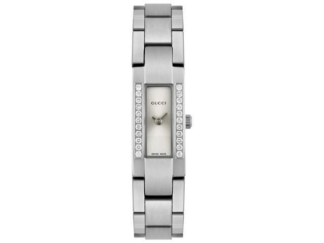 Gucci Women's 4605 Diamond Stainless Steel