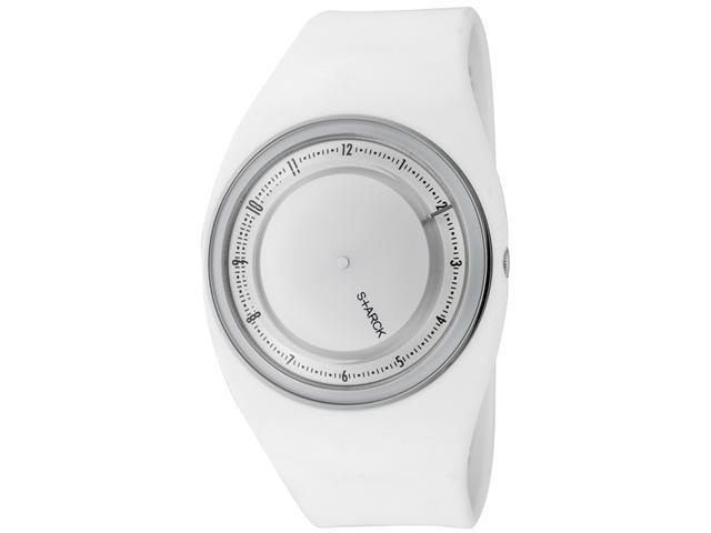 Philippe Starck Men's White Dial White Rubber