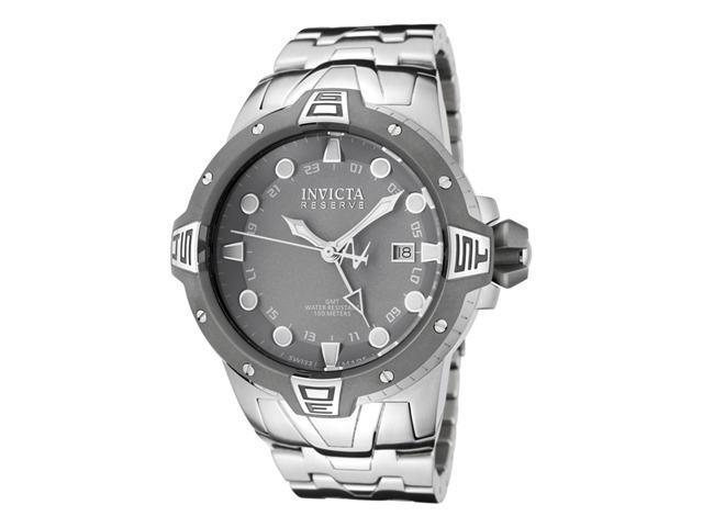Invicta Men's Reserve GMT Light Grey Dial Stainless Steel