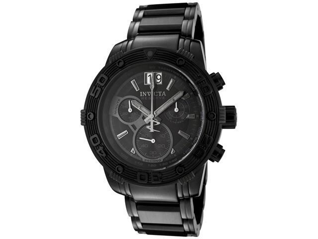 Invicta Men's Reserve Chronograph Black Dial Black Ion Plated Stainless Steel