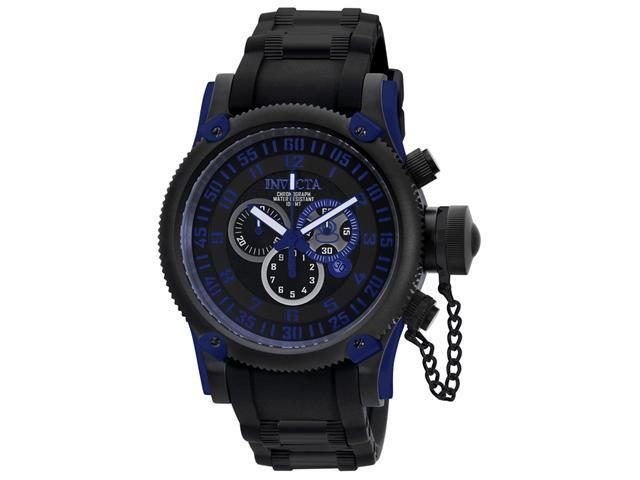 Invicta Russian Diver 0518 Men's Black Dial Swiss Quartz Chronograph Watch