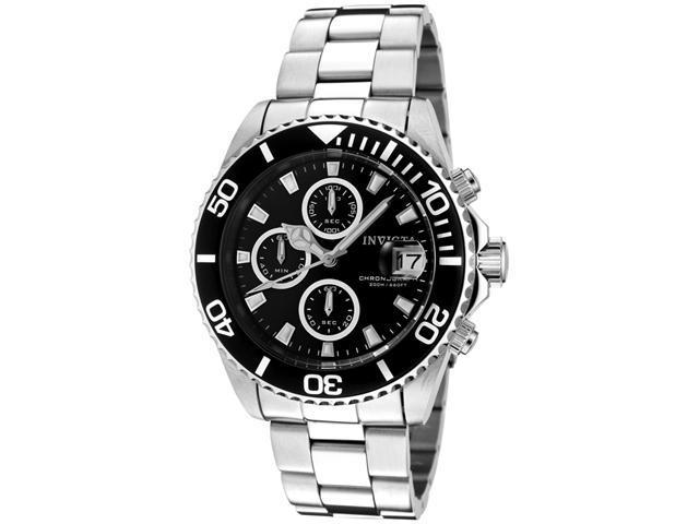 Invicta Men's Pro Diver Chronograph Black Dial Stainless Steel