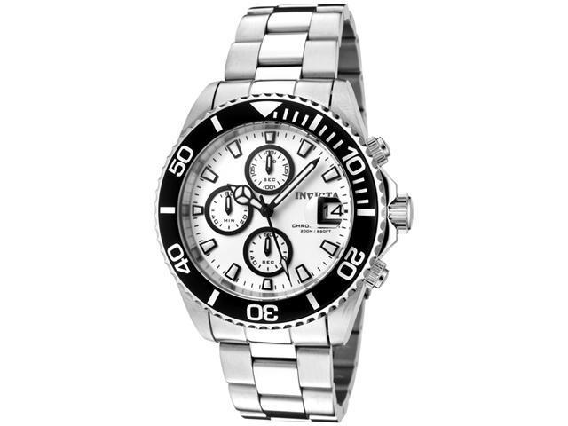 Invicta Men's Pro Diver Chronograph White Dial Stainless Steel Watch