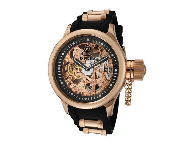 Invicta 1090 Mens Russian Diver Mechanical 18k Rose Gold Plated
