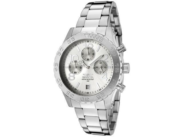 Men's Invicta II Chronograph Silver Dial Stainless Steel