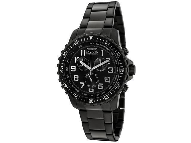 Men's Invicta II 1328 Black Dial Gunmetal Stainless Steel Chronograph Watch