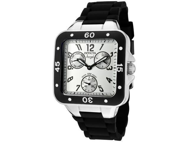 Invicta Women's Angel Silver Dial Black Rubber