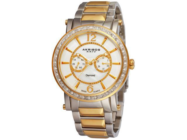 Akribos XXIV Men's Mother of Pearl Swiss Chronograph