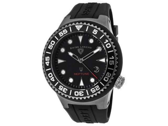 Swiss Legend 21848D-Gm-01-Nb Neptune (48 Mm) Black Silicone And Dial Black Silicone And Gunmetal Ip Ss Watch