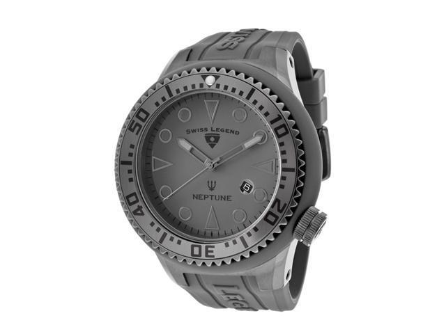Swiss Legend 21818D-Pht-14 Neptune Grey Silicone Grey Dial Gunmetal Ip Steel And Grey Silicone Watch