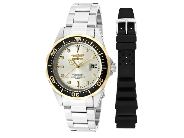 Men's Pro Diver Stainless Steel Champagne Dial
