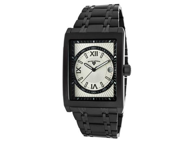 Limousine Black IP Stainless Steel Silver Dial Roman Numerals Black Accent