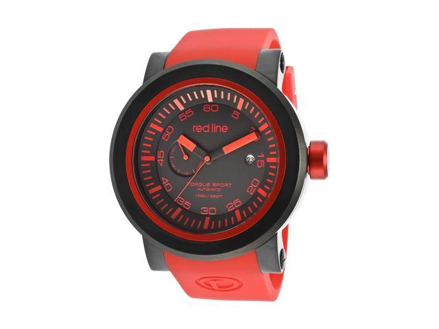 Red Line Torque Sport 50046-BB-01RD-RDST Men's Black Dial Red Silicone Automatic Watch
