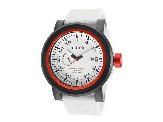 Red Line Torque Sport 50046-BB-02RD-WHST Men's White Dial Silicone Automatic Watch