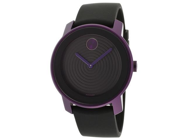 Movado Bold Black Dial Purple Aluminum Unisex Watch 3600175
