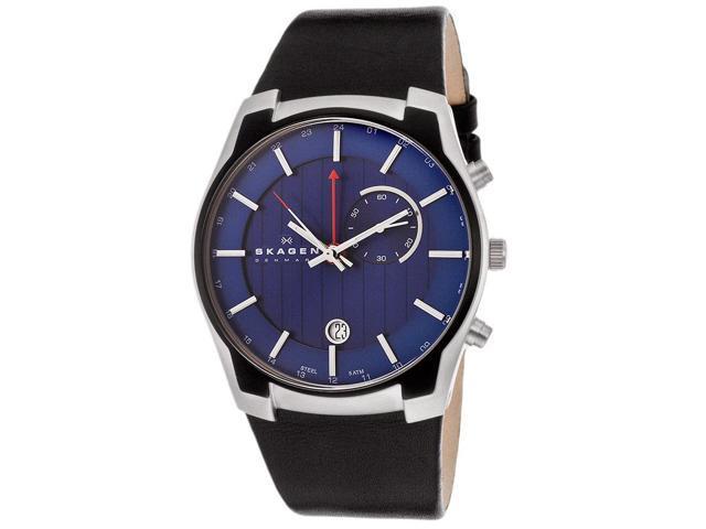 Skagen 853XLSLN Men's GMT/Alarm Function Blue Dial Watch
