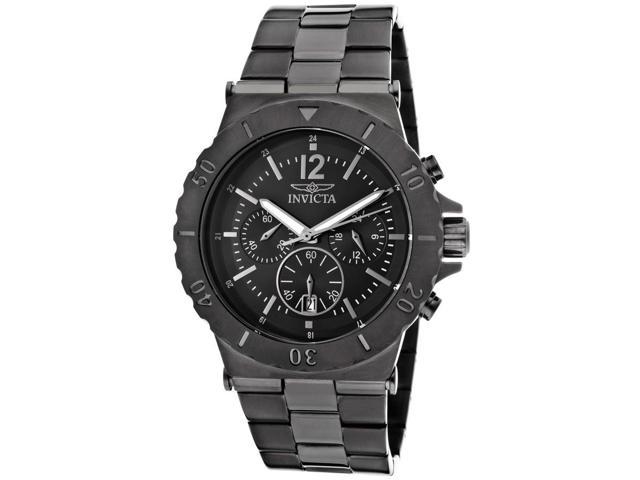 Men's Specialty Chronograph Black Dial Gunmetal Stainless Steel