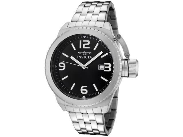 Invicta 0987 Men's Corduba Black Dial Stainless Steel Watch