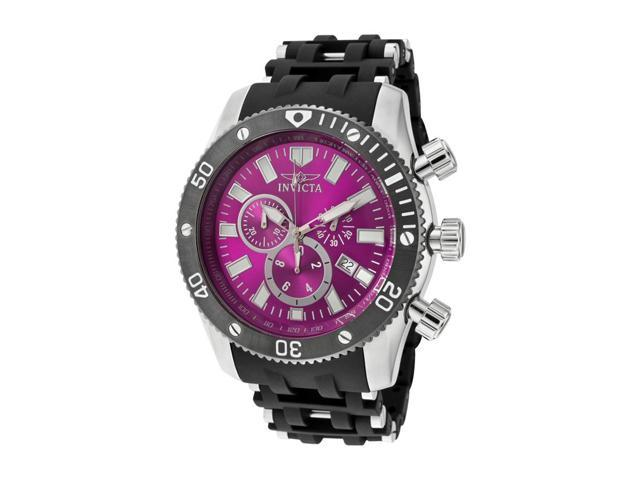 Men's Sea Spider Chronograph Purple Dial Black Polyurethane & Stainless Steel