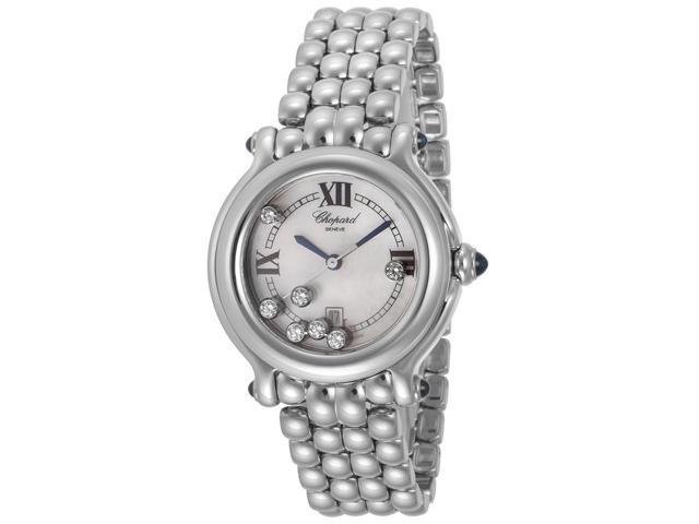 Chopard Happy Sport Pearl Floating Diamond Dial Ladies Watch 278236-3016