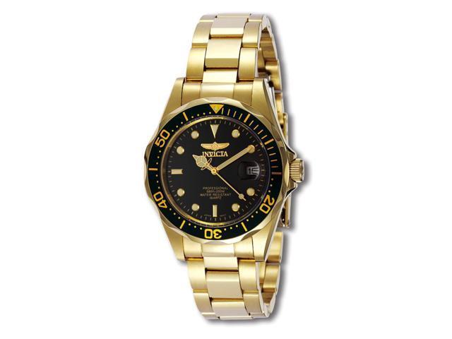 Men's Pro Diver Black Dial 18k Gold Plated