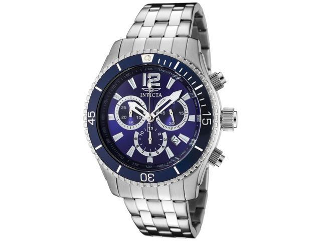 Men's Specialty Chronograph Stainless Steel Blue Dial
