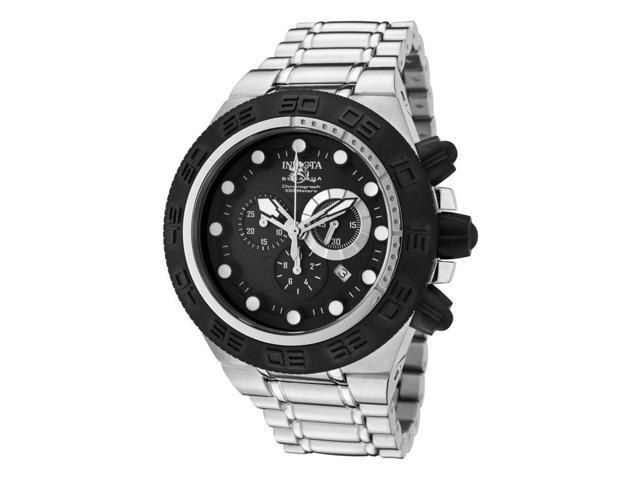 Men's Subaqua/Sports Chronograph Black Dial Stainless Steel