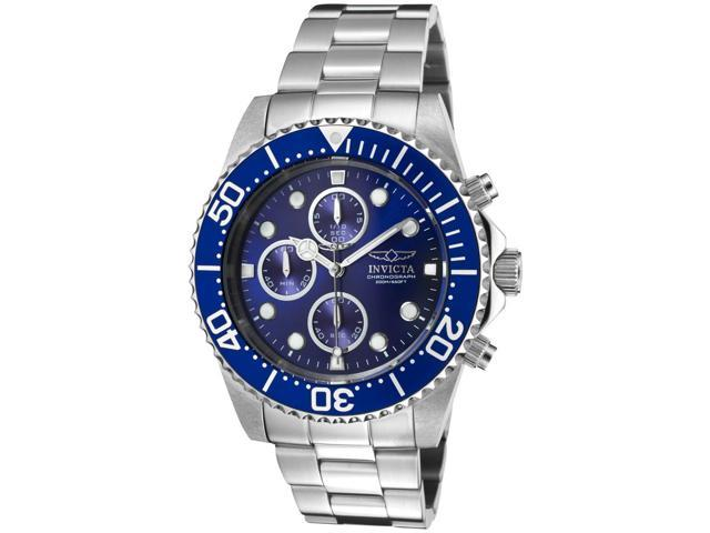 Invicta Men's Pro Diver Chronograph Blue Dial Stainless Steel