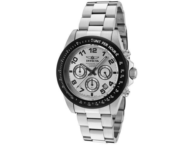 Invicta Men's Speedway Chronograph Silver Dial Stainless Steel