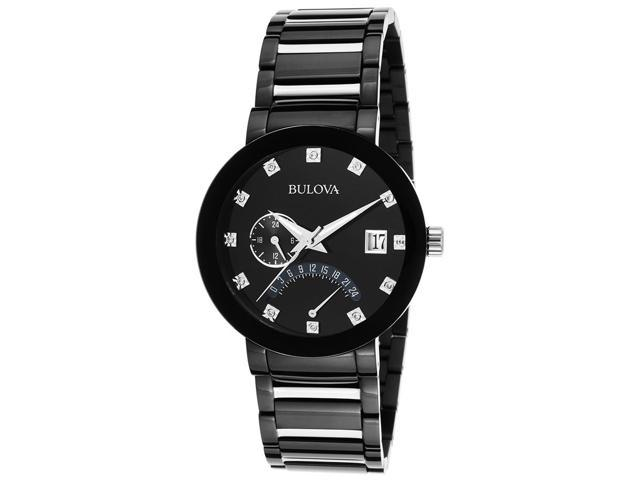 Bulova Men's Diamond Dual Time & Two Tone Watch