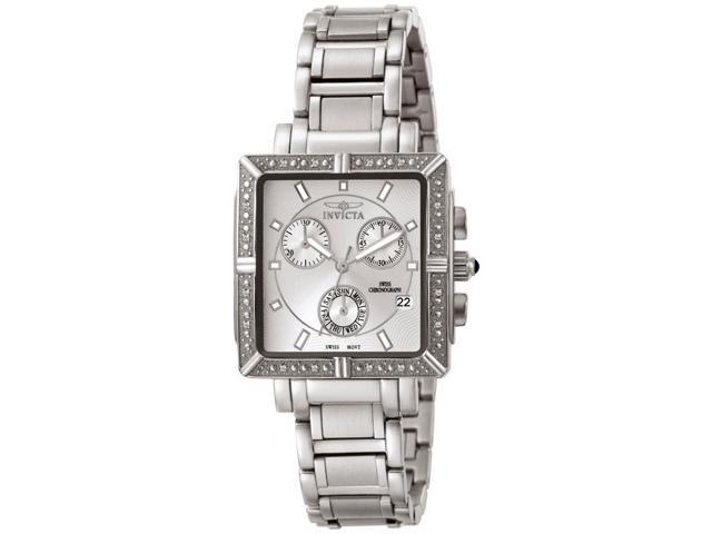 Invicta Women's Square Stainless Steel Chronograph Diamond