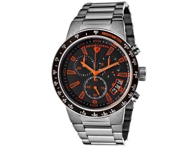 Swiss Legend 10057-Gm-11-Ora Endurance Chrono Gunmetal Ip Ss Blk Dial Orange Accents Gunmetal Ip Ss Watch