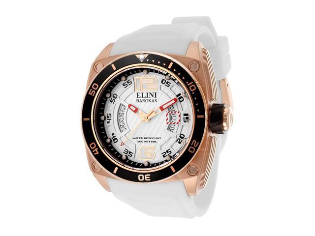 Commander White Silicone and Textured Dial Rose-tone Accent