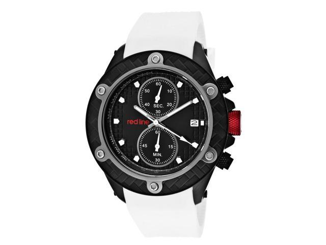 Red Line 10119Dv Carbon Brake Chronograph White Silicone Dial Watch