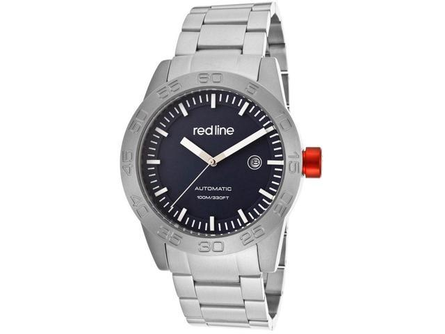 Mileage Auto Stainless Steel Blue Dial