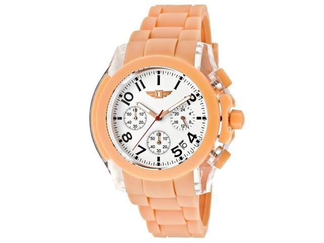 I By Invicta 43949-005 Men's Chronograph Salmon Polyurethane White Dial Watch