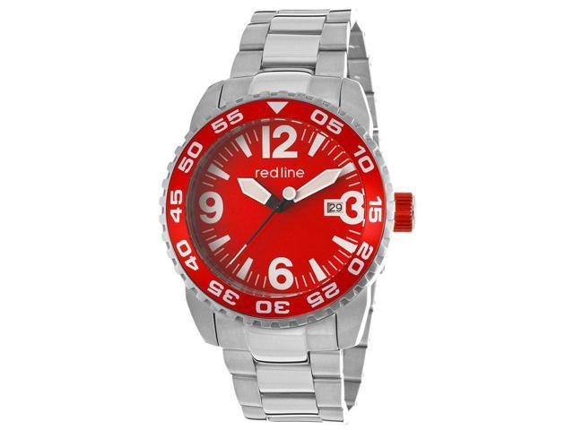 Red Line 60016 Ignition Auto Stainless Steel Red Dial Watch
