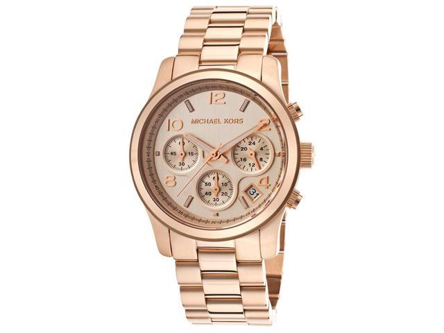 Women's Runway Chronograph Rose-Tone Steel and Dial
