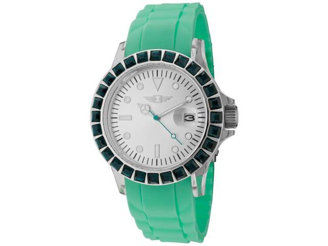 I By Invicta 10067-002 Women's Green Polyurethane Silver-Tone Dial Watch