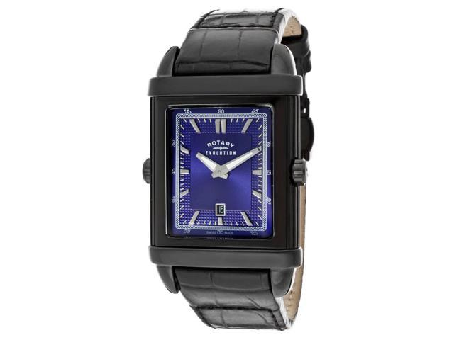 Rotary Evolution TZ2 Black Genuine Leather Blue Dial Watch