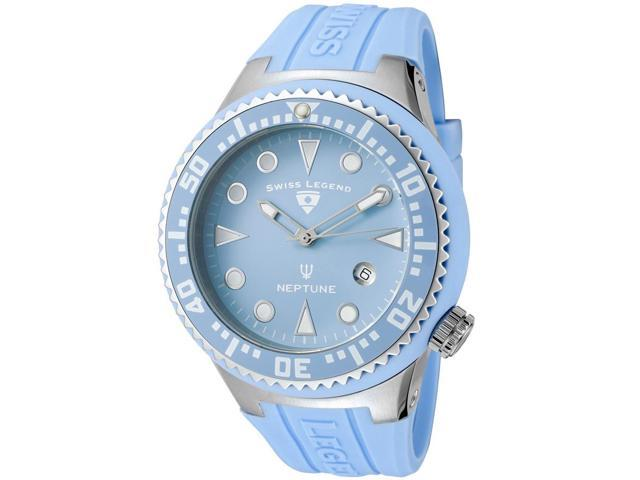 Swiss Legend 21848D-012 Neptune (48 mm) Silicone Watch - Light Blue Dial