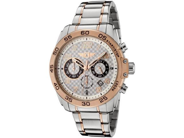 I By Invicta 90187-002 Men's Chrono Two-Tone Stainless Steel Checkered Dial Ss Watch